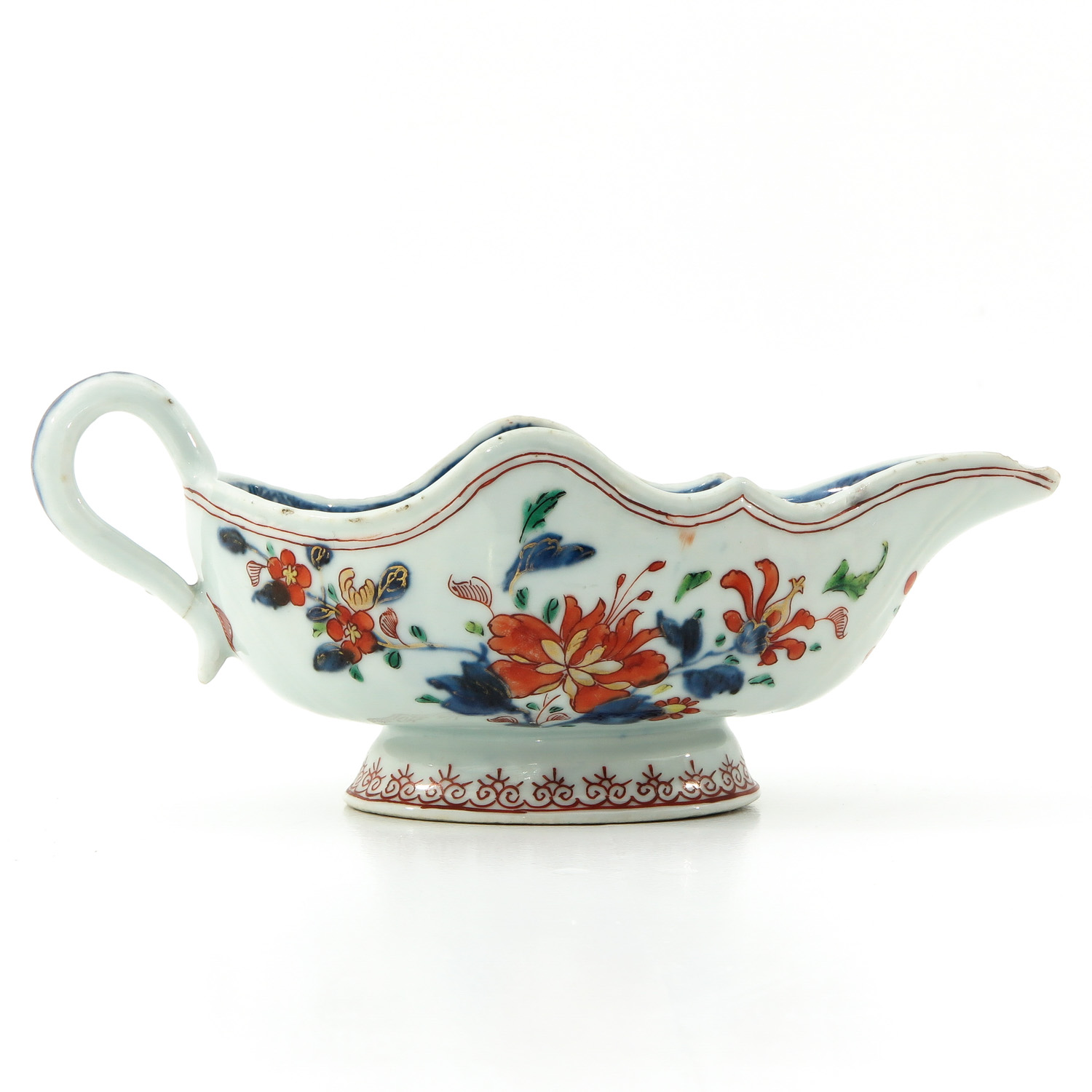 An Imari Plate and Gravy Boat - Image 3 of 10