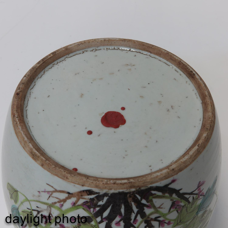 A Polychrome Decor Ginger Jar - Image 8 of 10