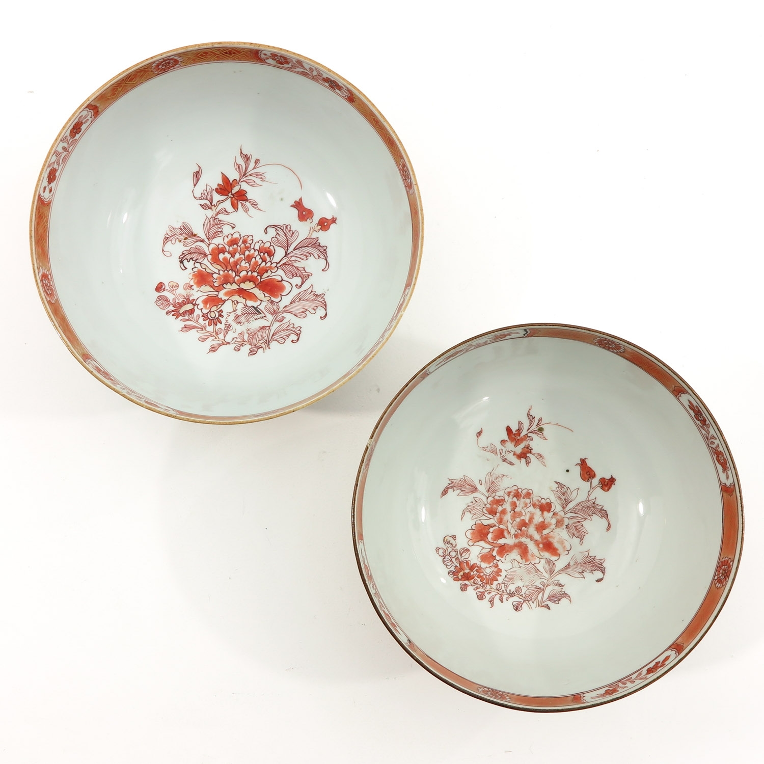 A Pair of Milk and Blood Decor Bowls - Image 5 of 9