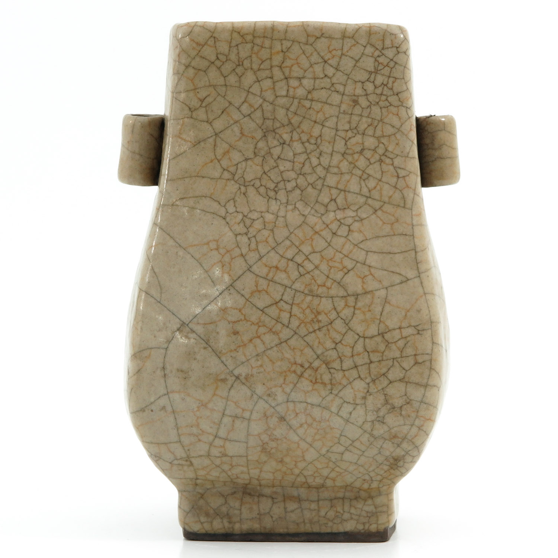 A Crackle Decor Hu Vase - Image 3 of 9