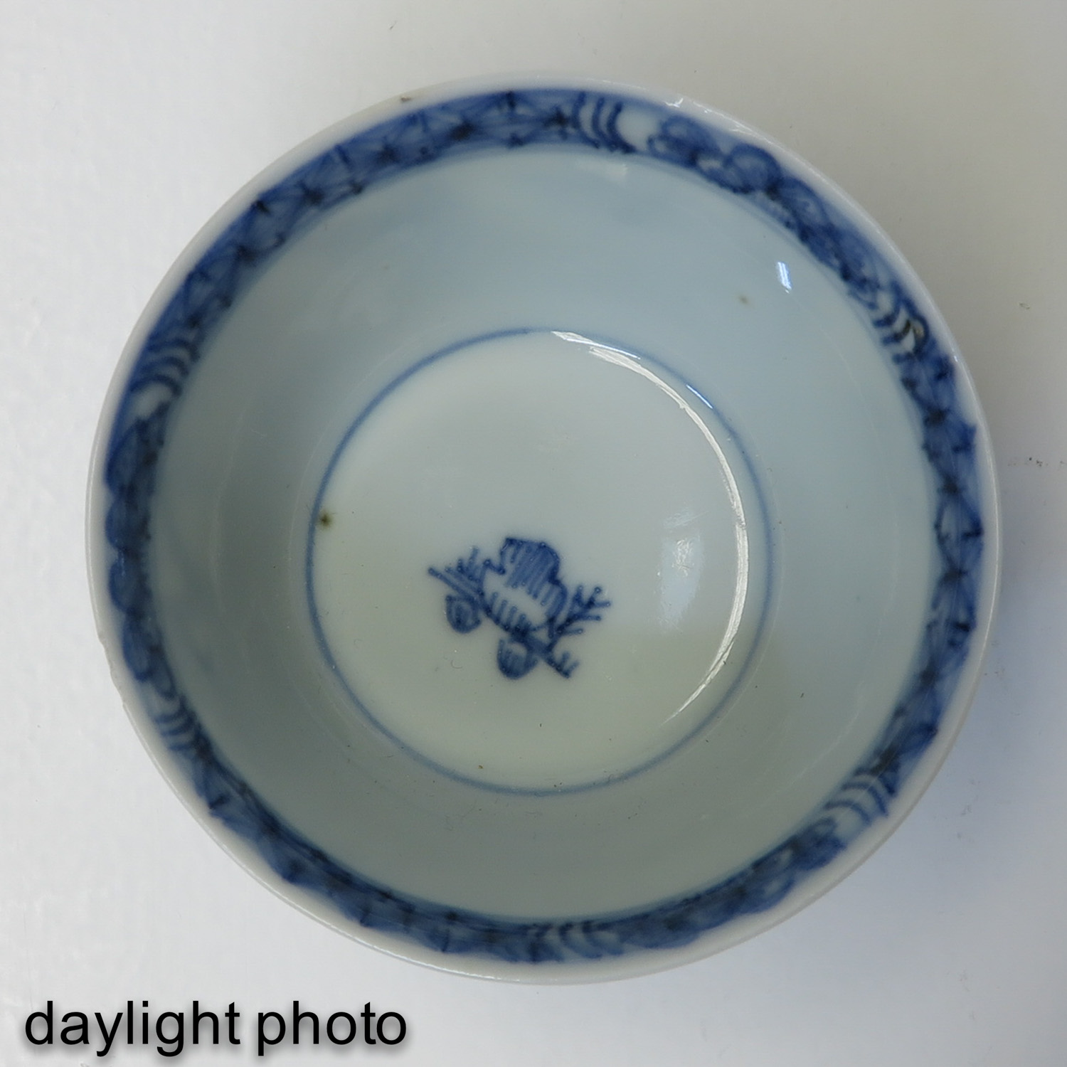 A Blue and White Cup and Saucer - Image 10 of 10