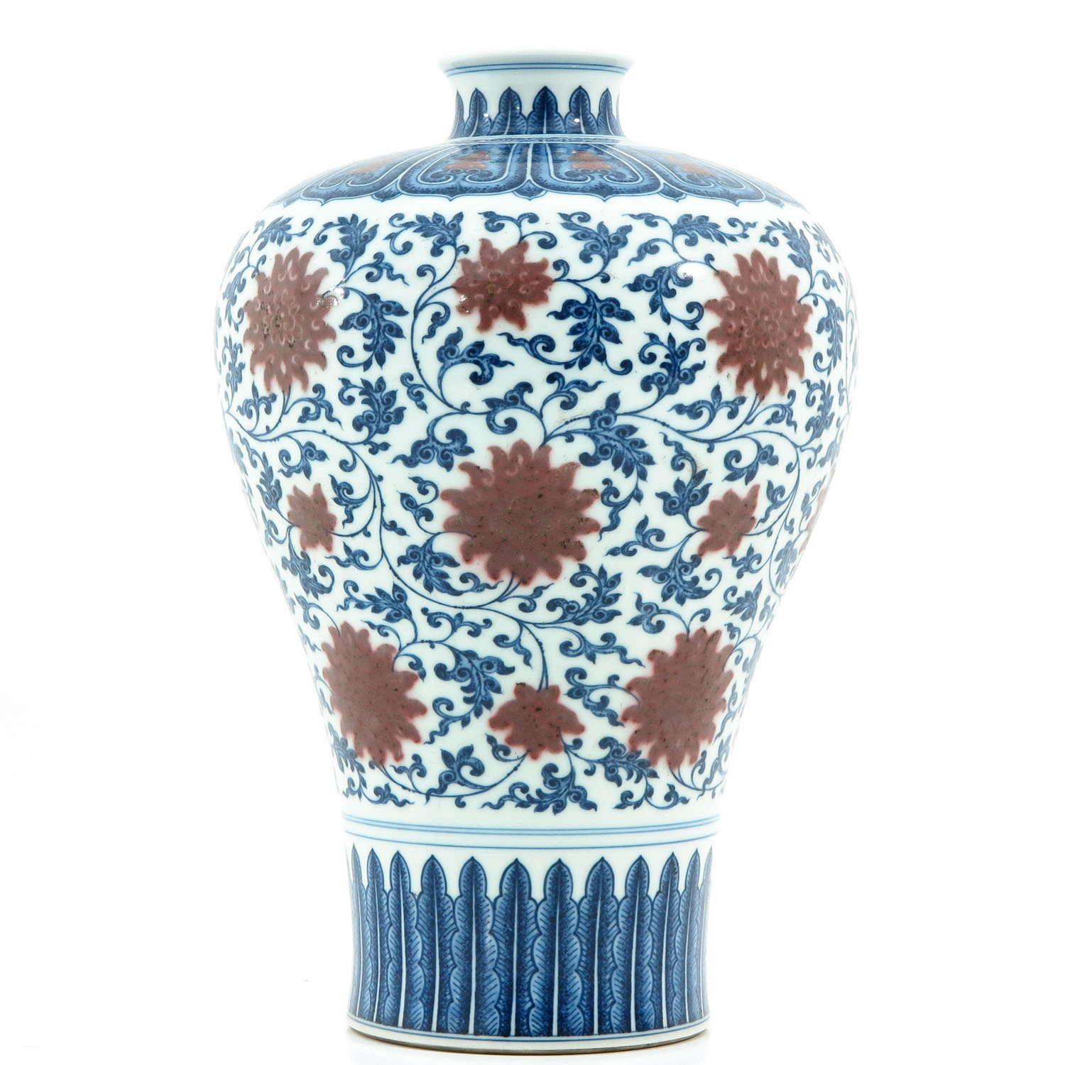 An Iron Red and Blue Decor Meiping Vase - Image 3 of 10