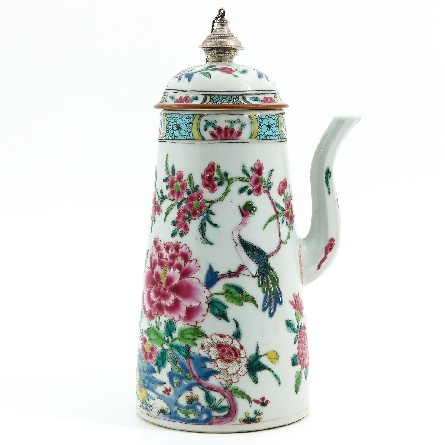 A Famille Rose Chocolate Pot - Image 4 of 10