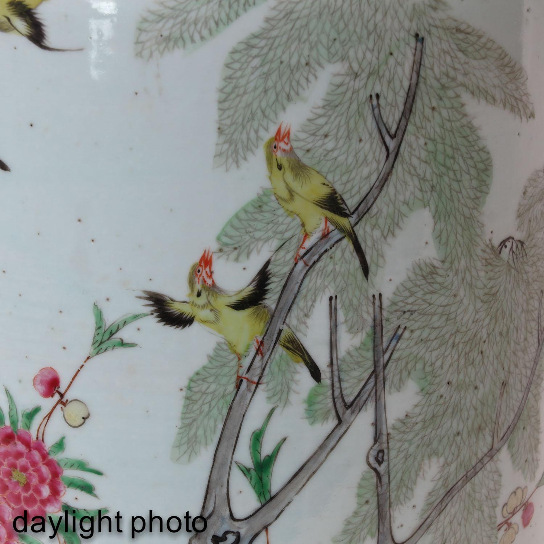 A Famille Rose Decor Vase - Image 9 of 9