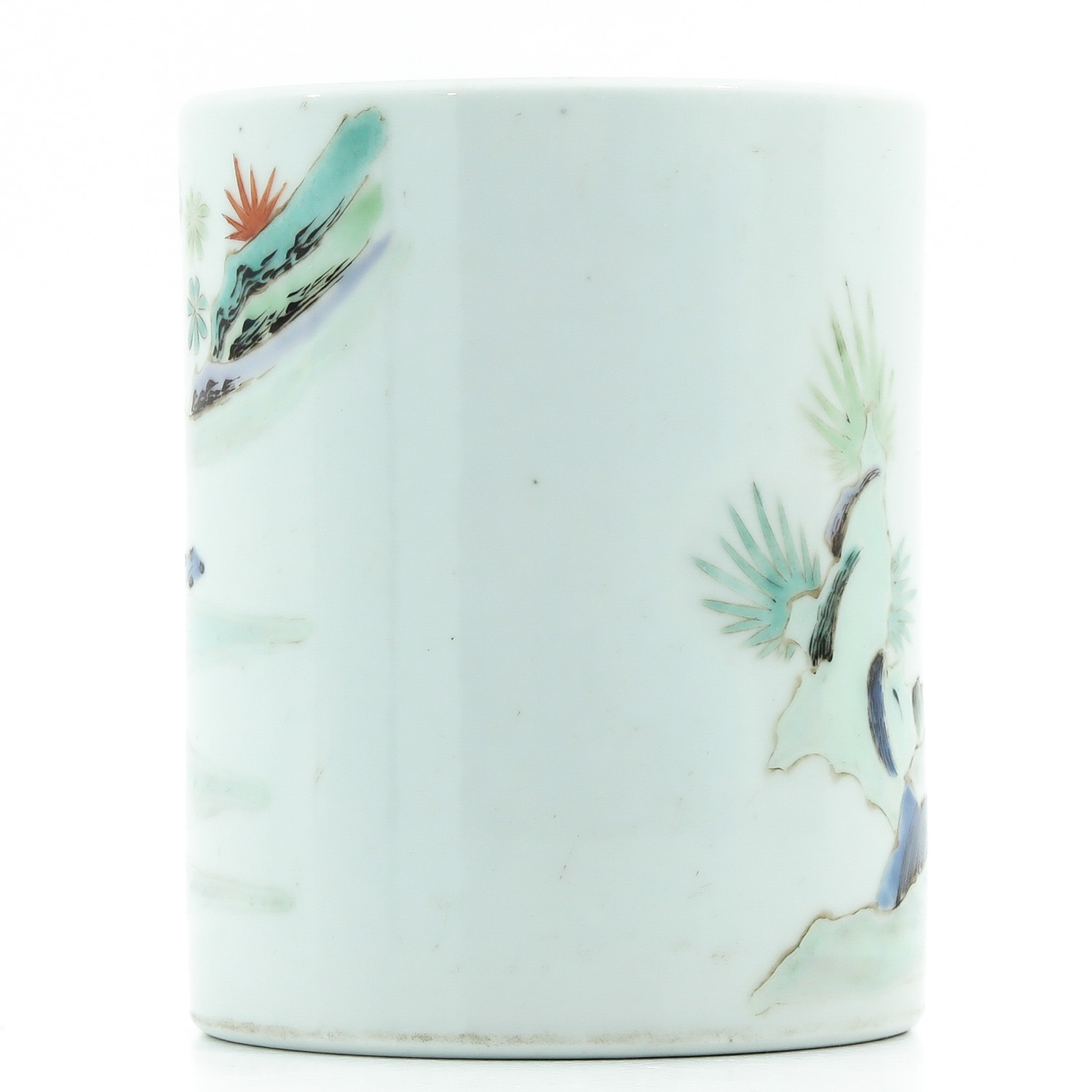 A Famille Rose Brush Pot - Image 3 of 9