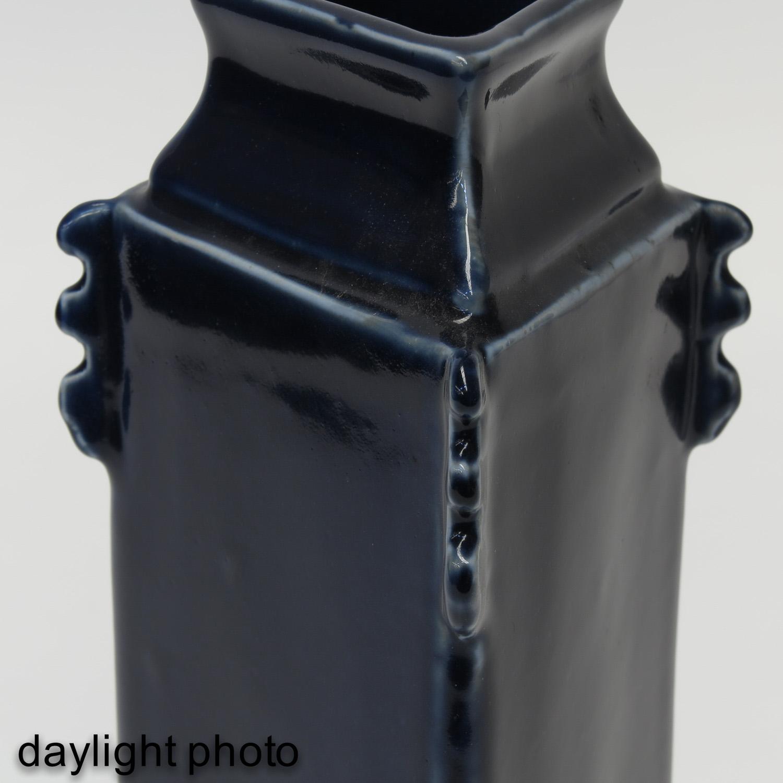 A Blue Glaze Vase - Image 10 of 10