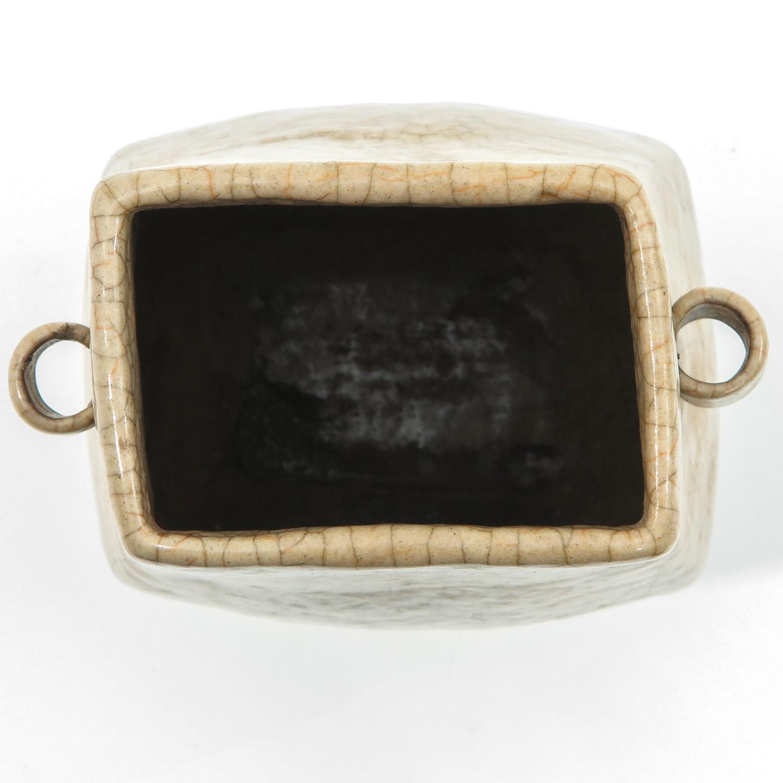 A Crackle Decor Hu Vase - Image 5 of 9