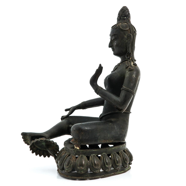 A Bronze Buddha Sculpture - Image 2 of 9