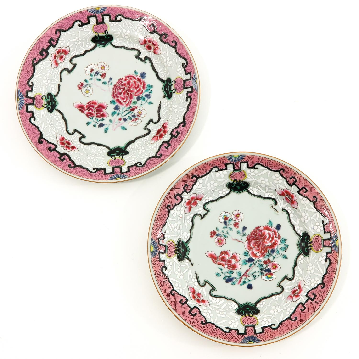 A Series of 4 Famille Rose Plates - Image 3 of 9