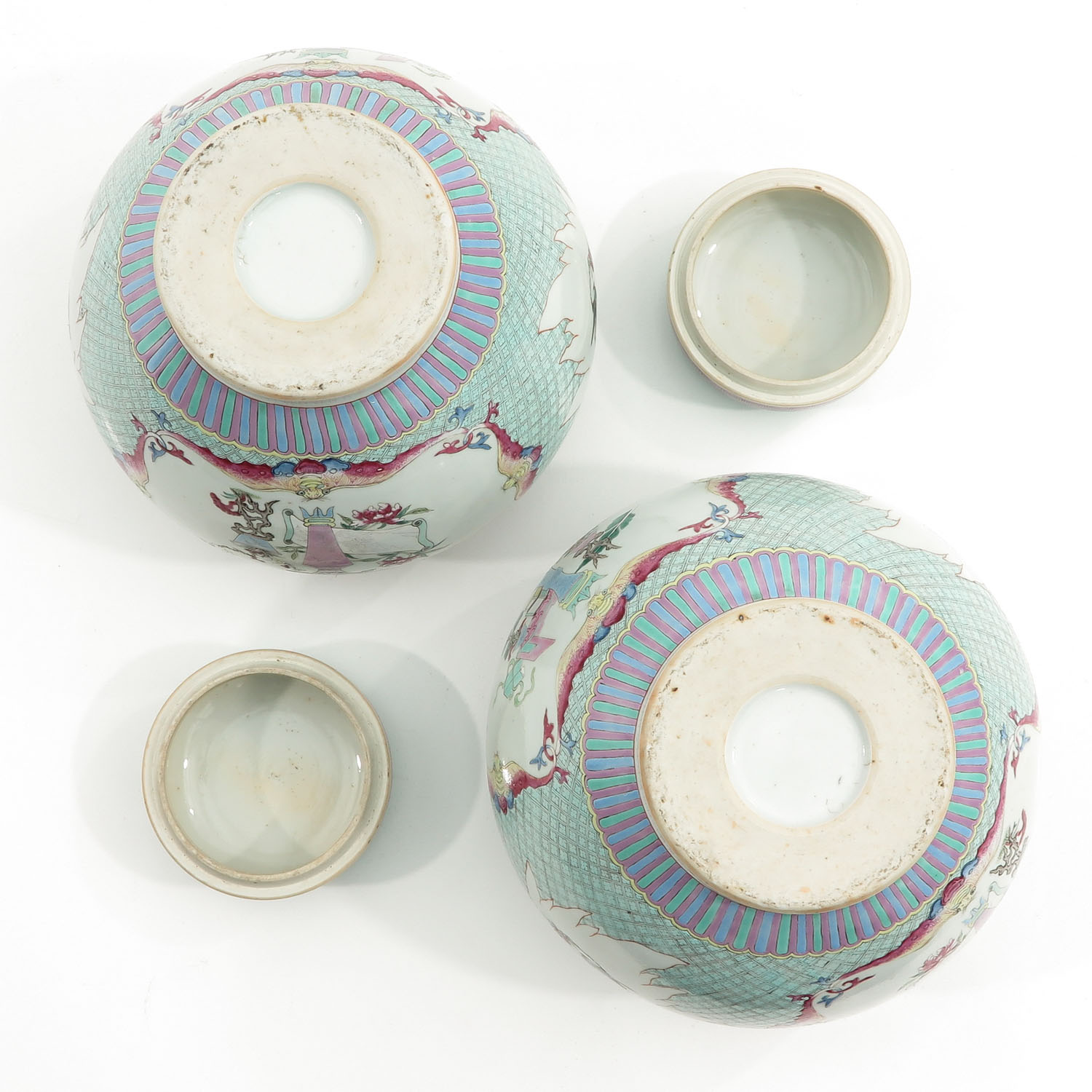 A Pair of Famille Rose Ginger Jars - Image 6 of 10