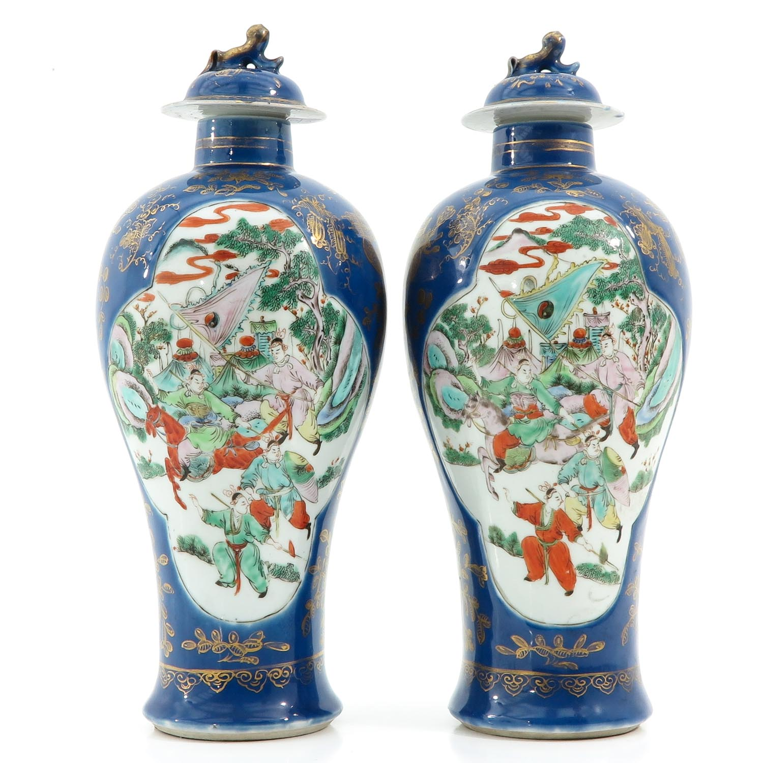 A Pair of Powder Blue Vases - Image 3 of 10