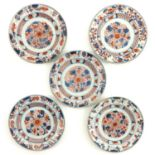 A Series of 5 Imari Plates