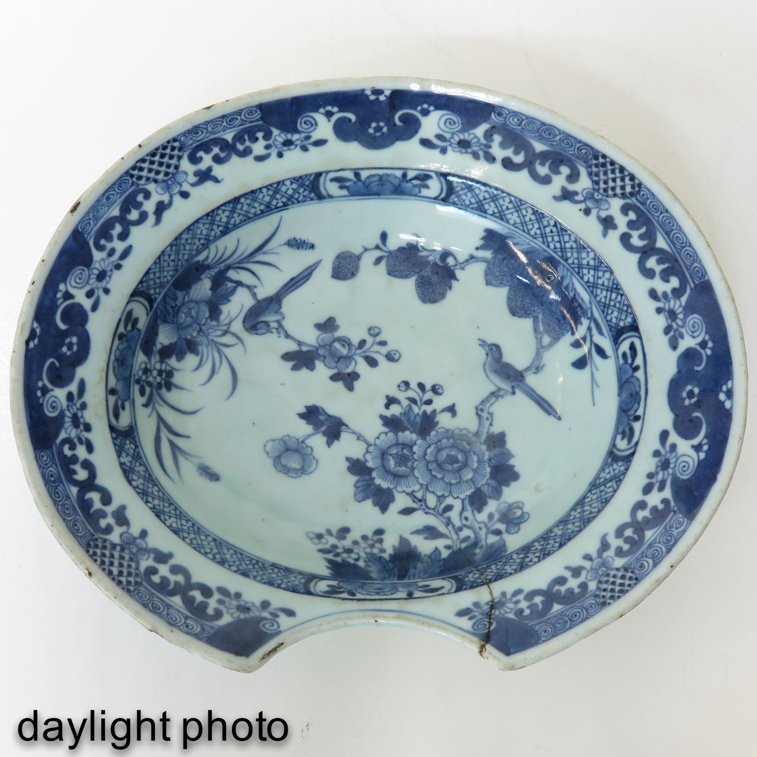 A Blue and White Shaving Bowl - Image 5 of 7