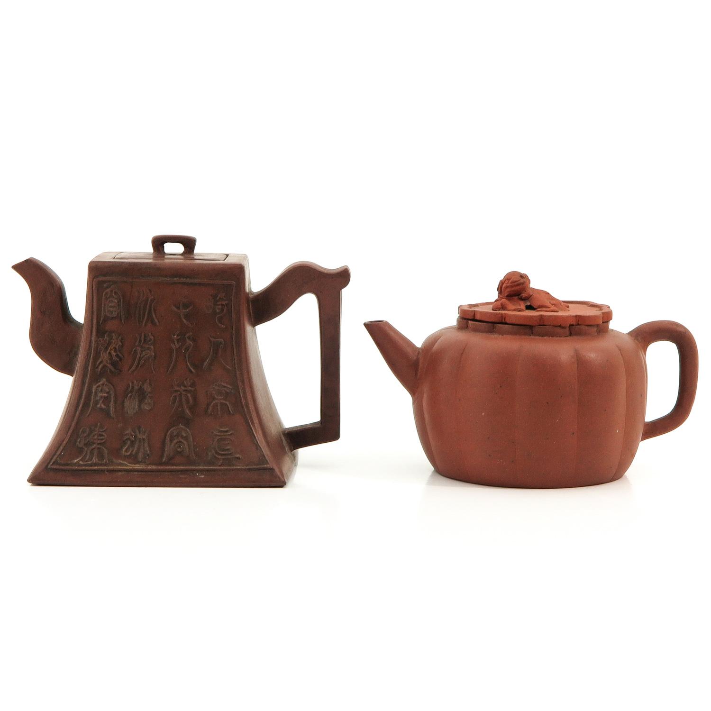 A Lot of 2 Yixing Teapots