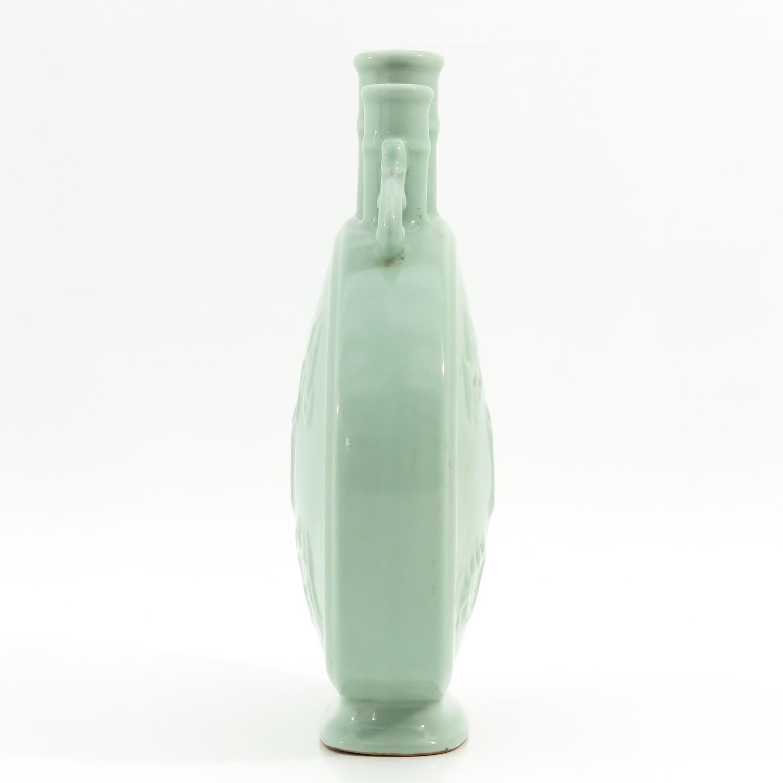 A Celadon Moon Bottle Vase - Image 2 of 10