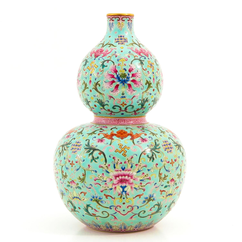 A Famille Rose Gourd Vase - Image 3 of 9