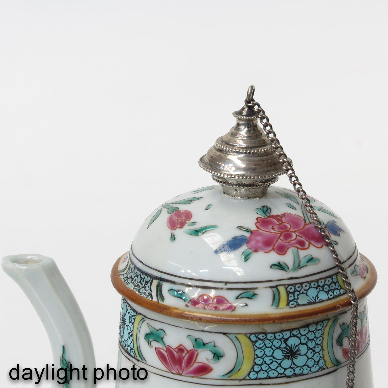A Famille Rose Chocolate Pot - Image 9 of 10