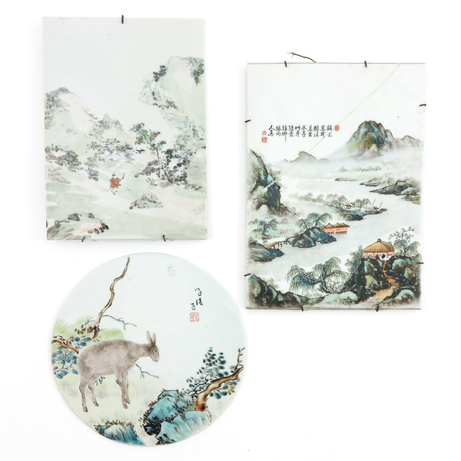 A Collection of 3 Chinese Tiles