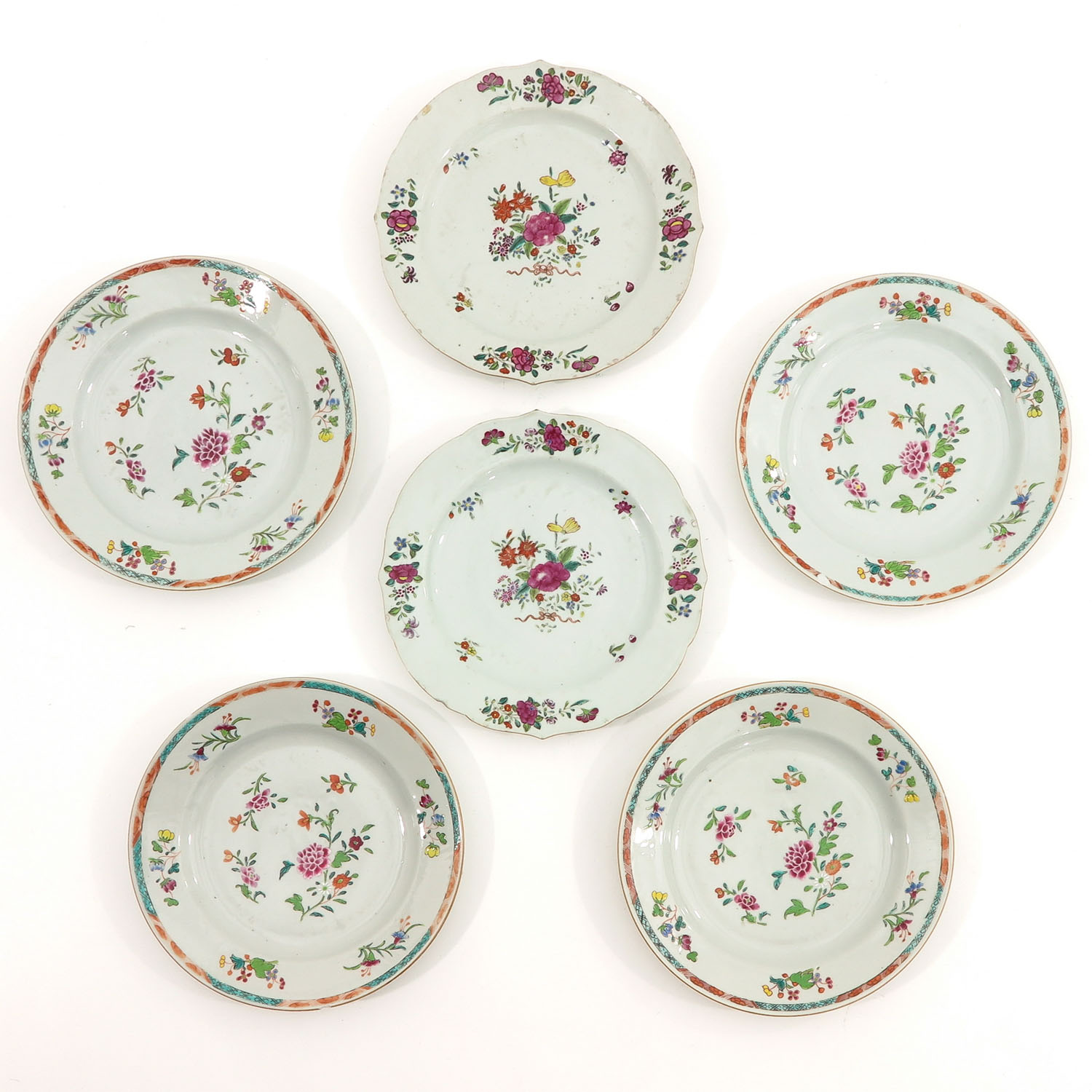 A Series of Famille Rose Plates