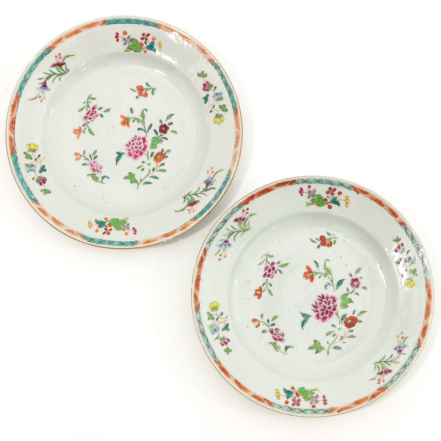 A Series of Famille Rose Plates - Image 3 of 10