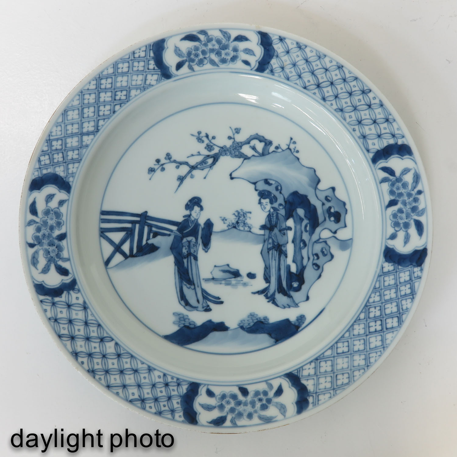 A Blue and White Plate - Image 3 of 6