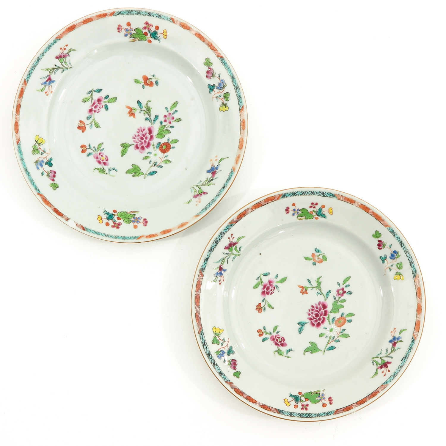 A Series of Famille Rose Plates - Image 5 of 10
