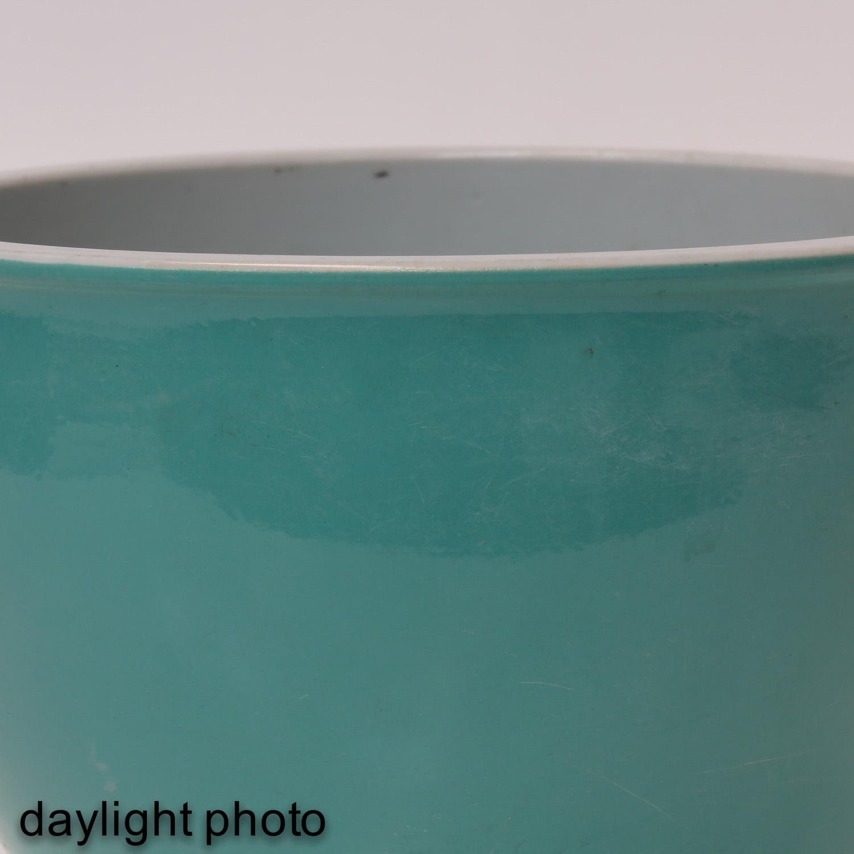 A Celadon Cache Pot - Image 9 of 9