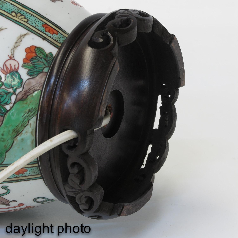 A Famille Verte Lamp - Image 8 of 9