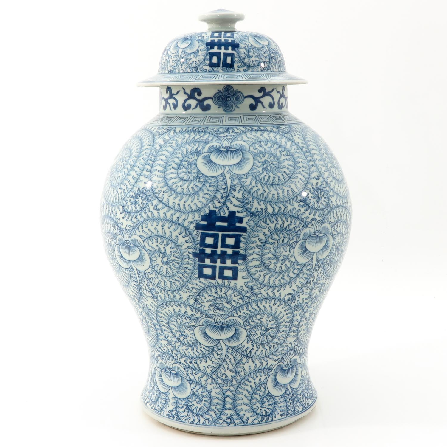 A Blue and White Vase with Cover - Image 4 of 9