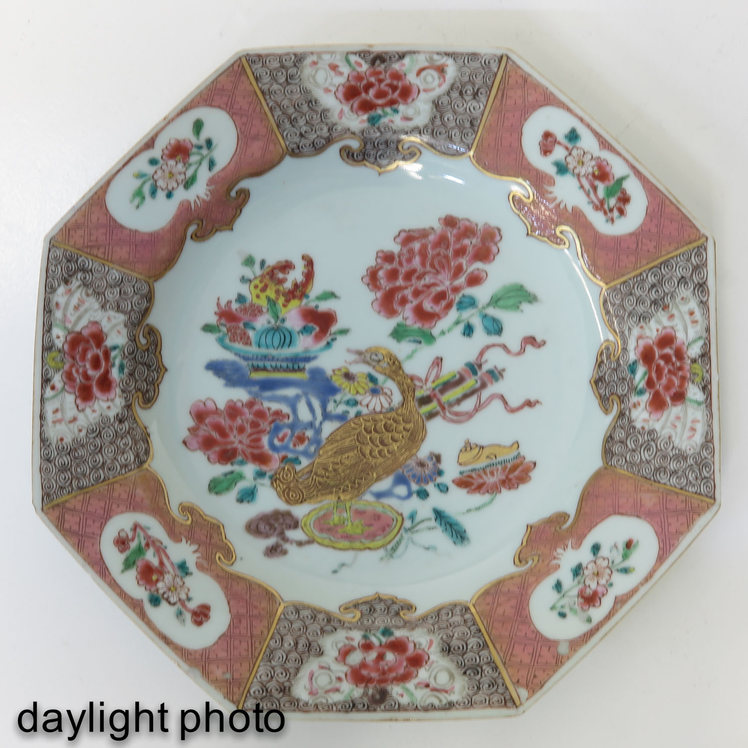 A Famille Rose Plate - Image 3 of 5