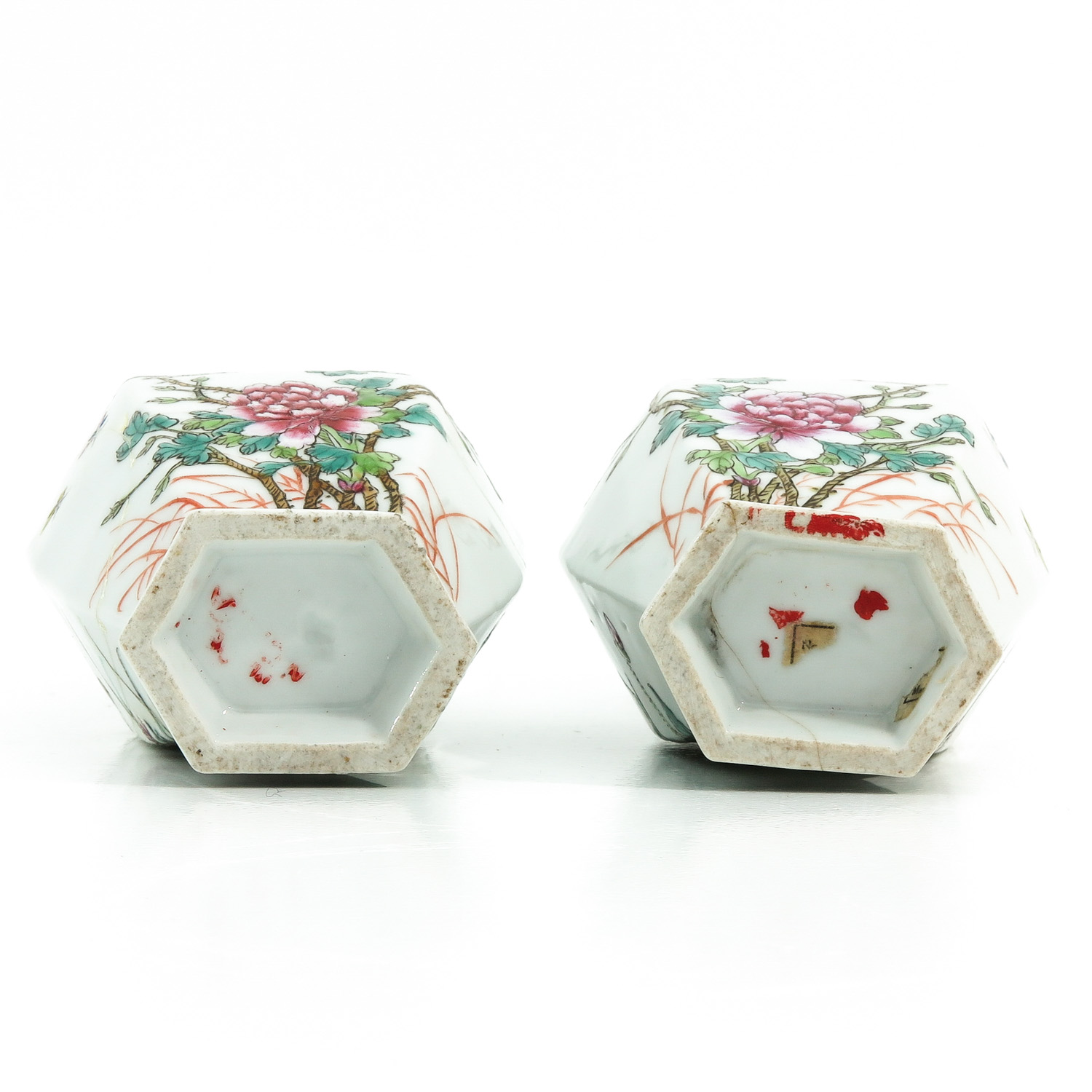 A Pair of Famille Rose Vases - Image 6 of 9