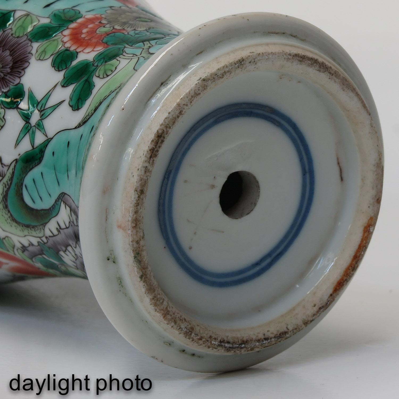 A Famille Verte Vase - Image 8 of 10