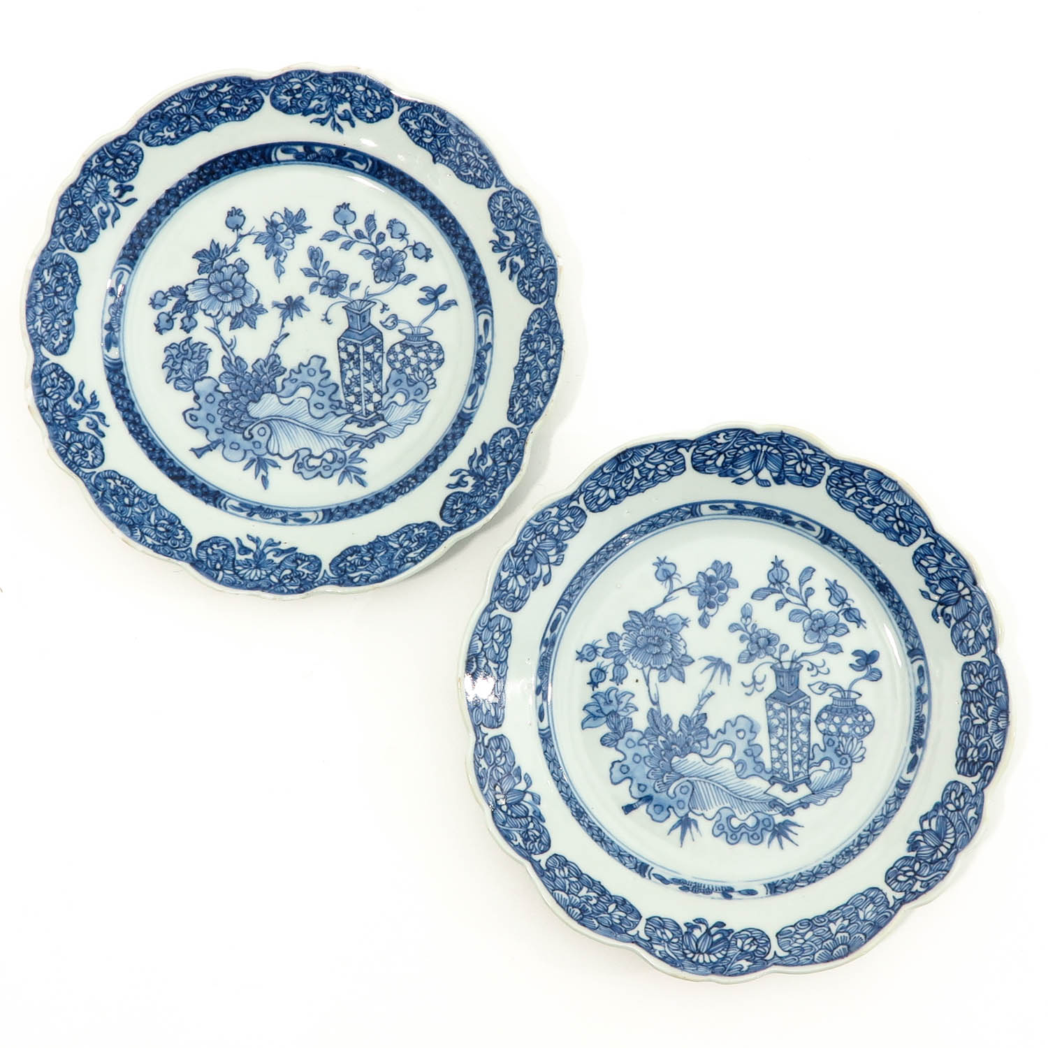 A Set of 6 Blue and White Plates - Image 3 of 10