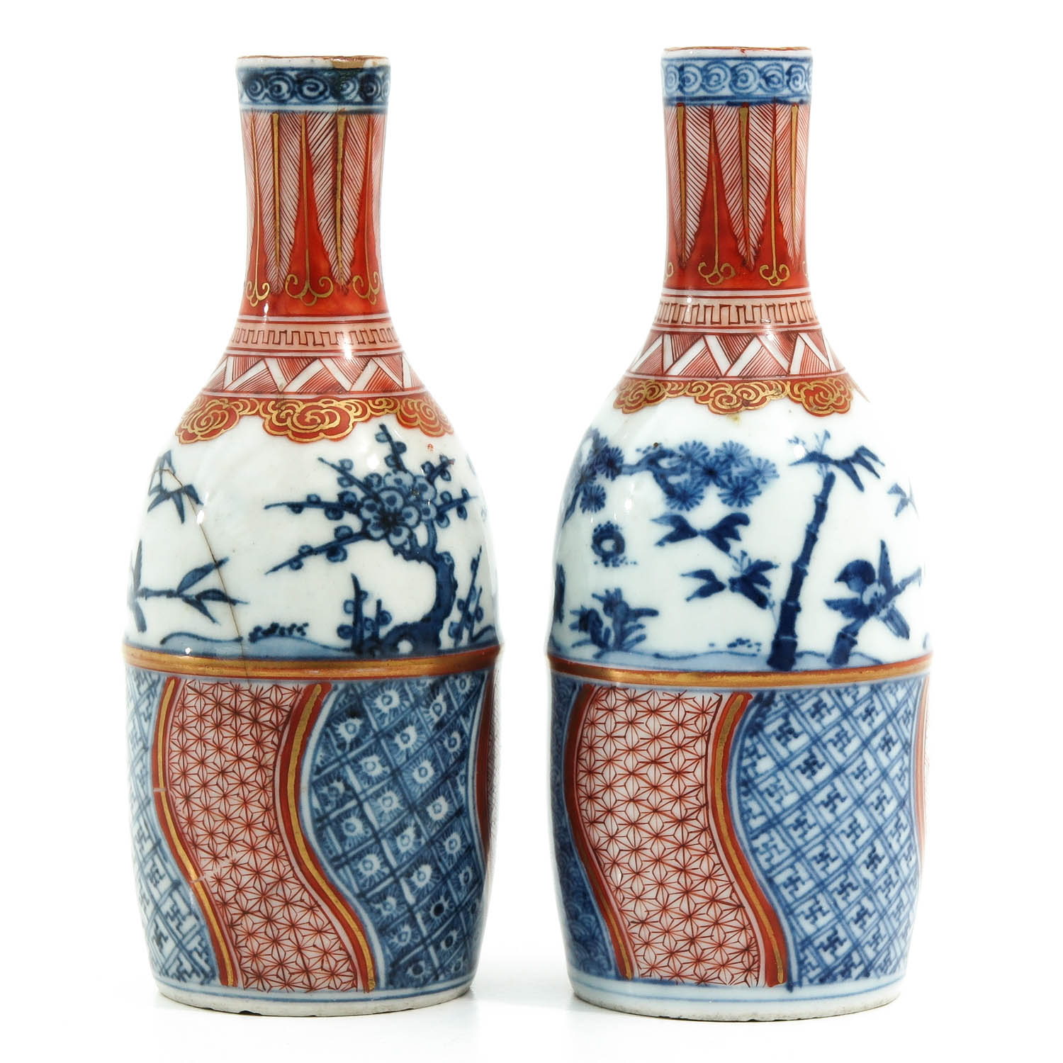 A Pair of Imari Bottles - Image 3 of 10