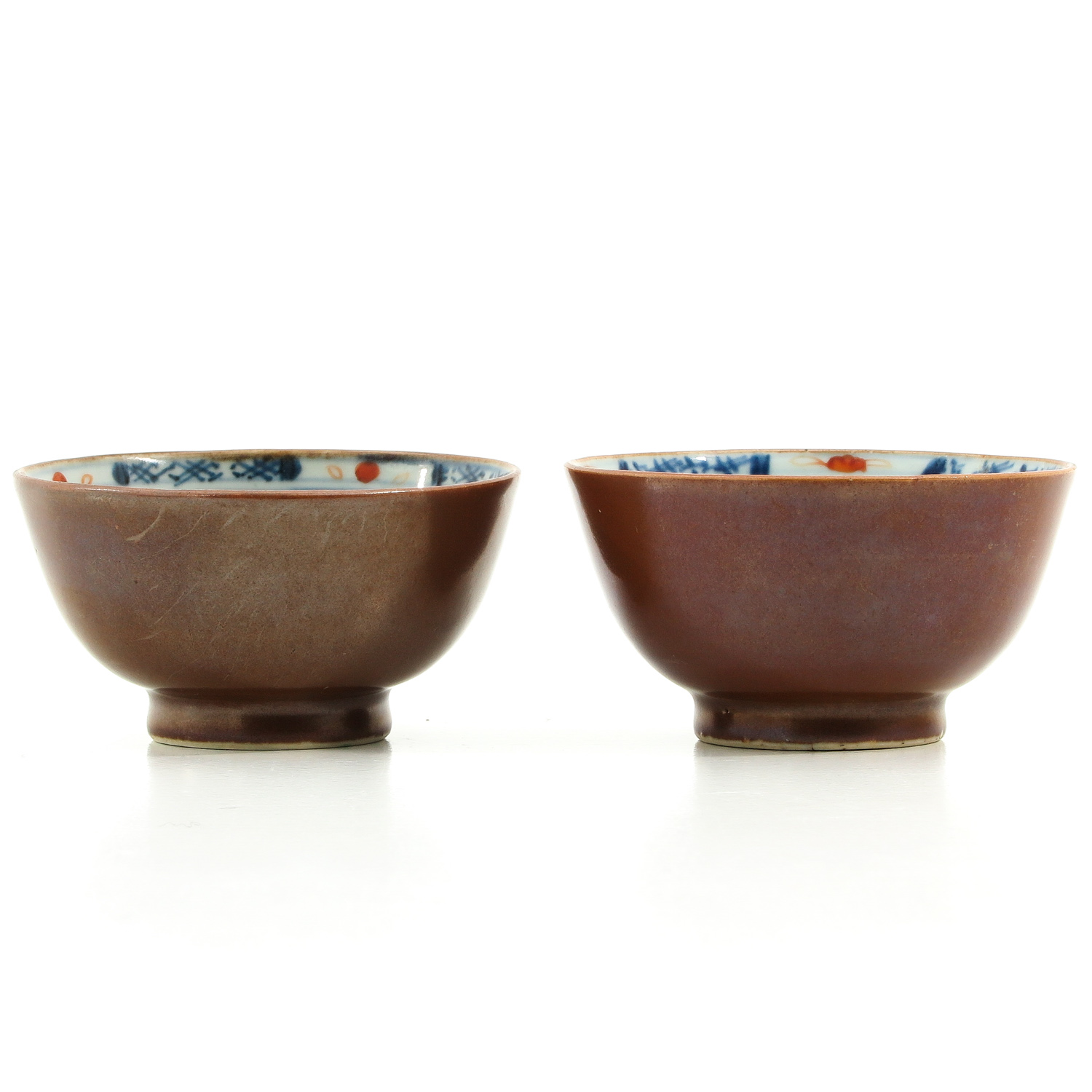 A Pair of Batavianware Cups and Saucers - Image 4 of 9