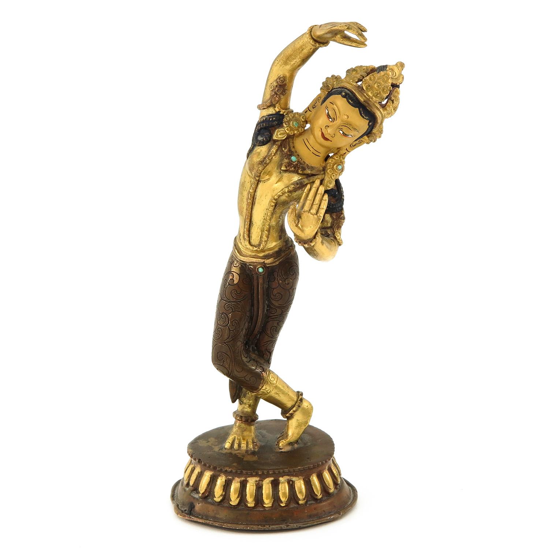A Bronze Quanyin Sculputre
