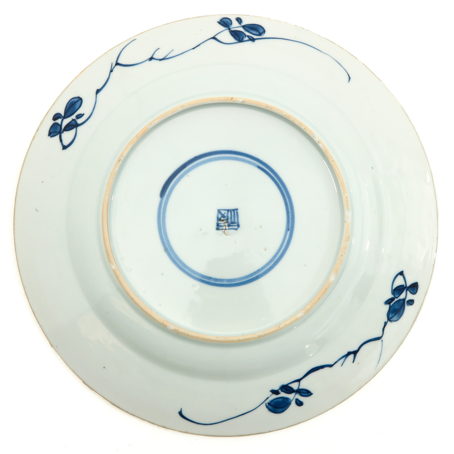 A Lot of 3 Blue and White Plates - Image 4 of 10
