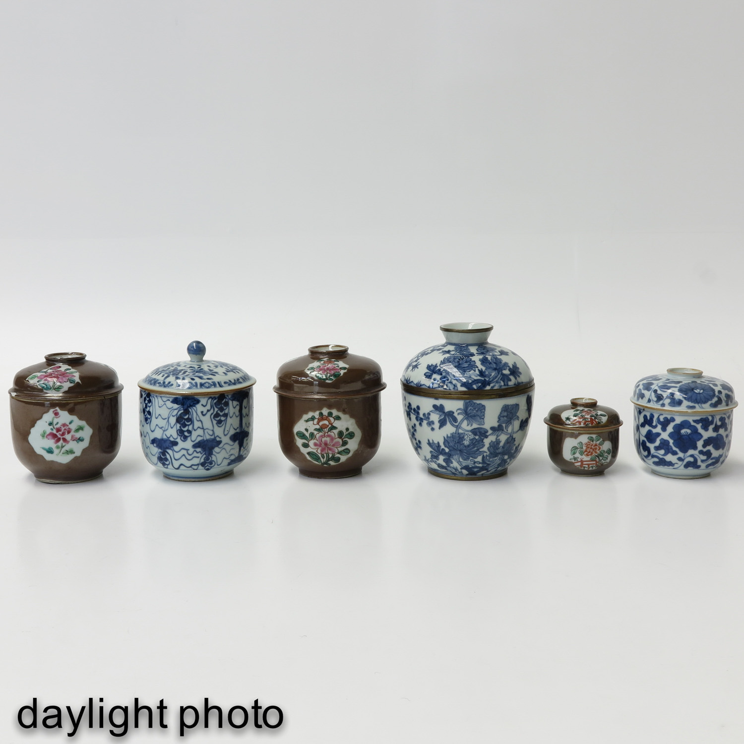 A Collection of Jars with Covers - Image 7 of 10