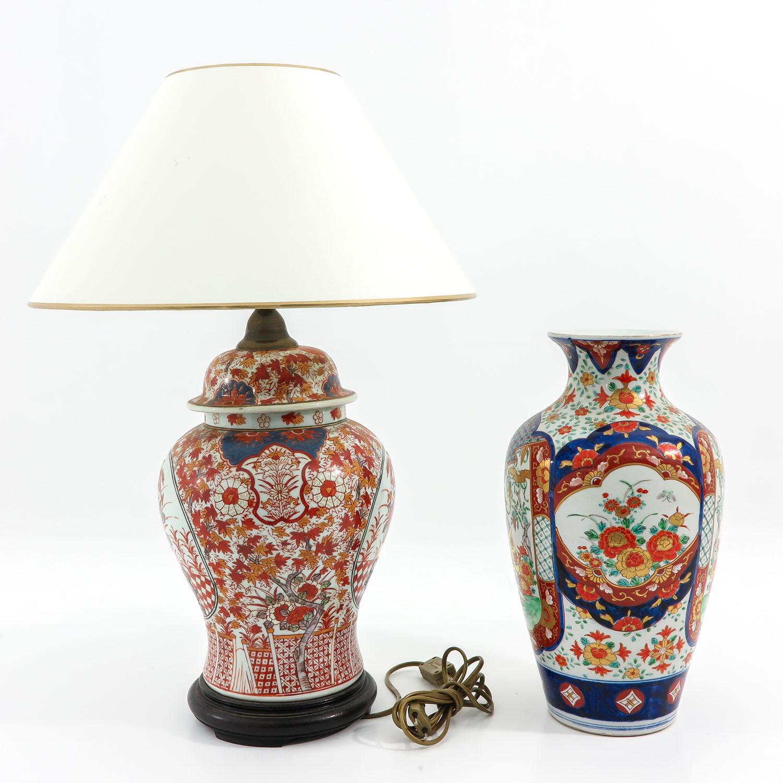 An Imari Vase and Lamp - Image 2 of 9