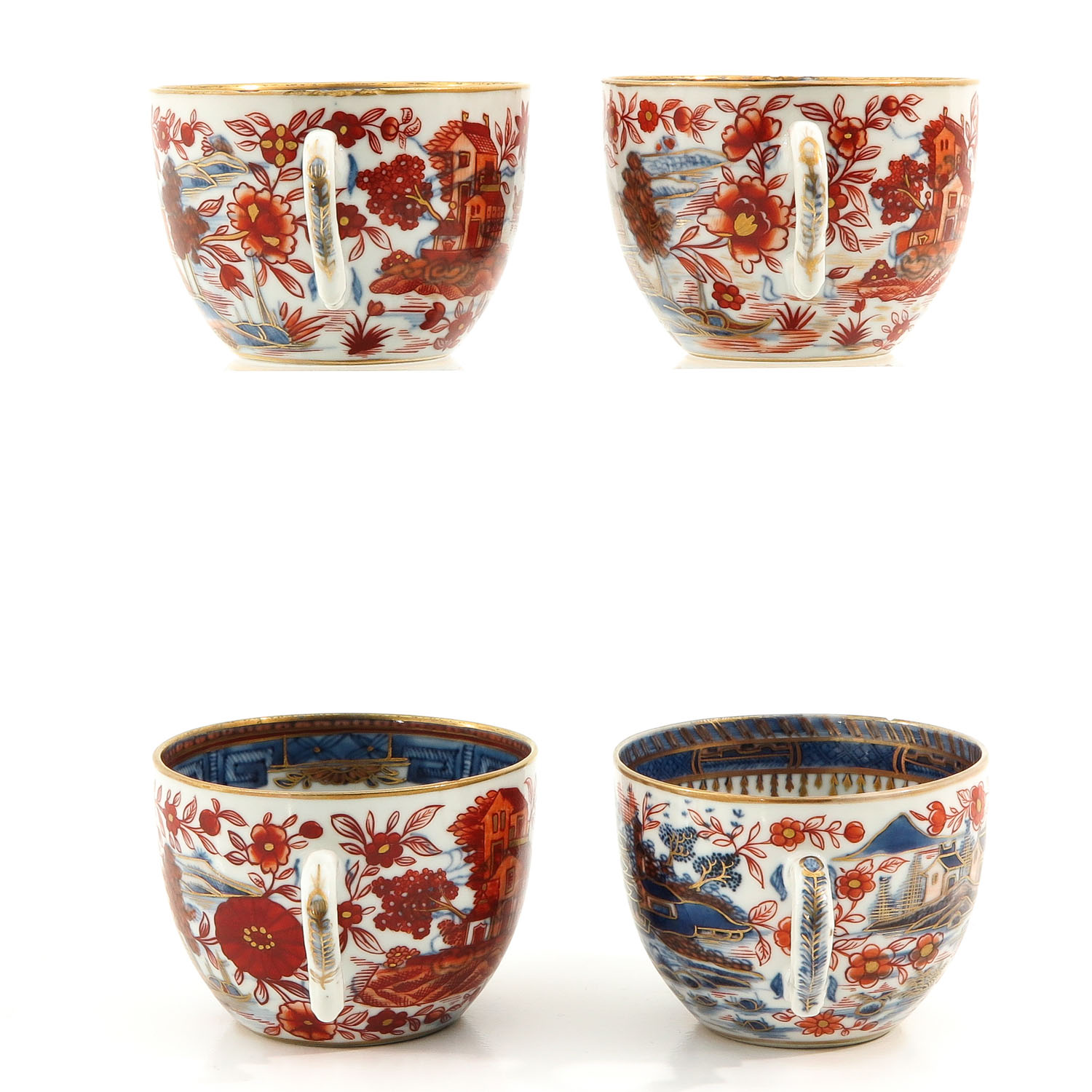 4 Imari Cups and Saucers - Image 2 of 10