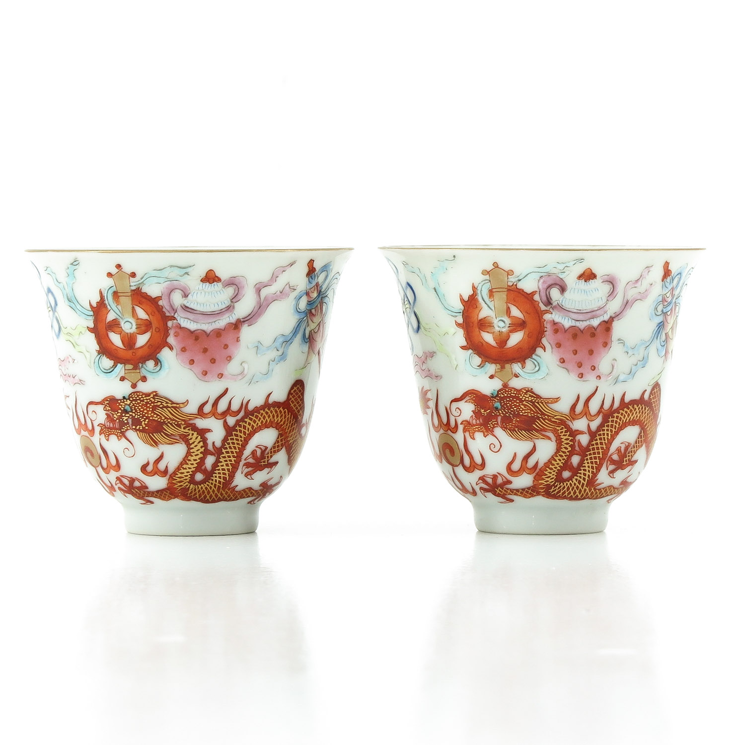 A Pair of Famille Rose Cups - Image 3 of 10