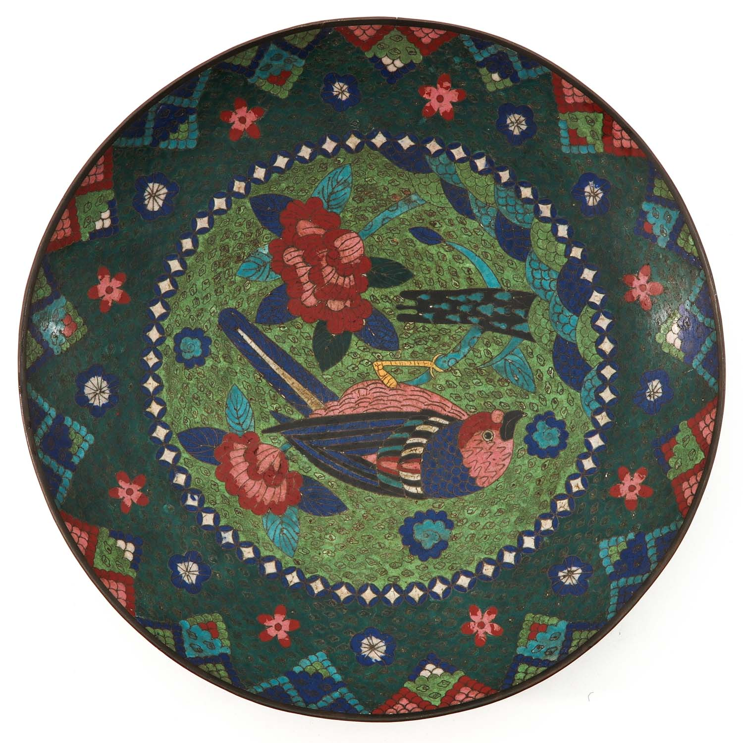 A Pair of Cloisonne Chargers - Image 3 of 10