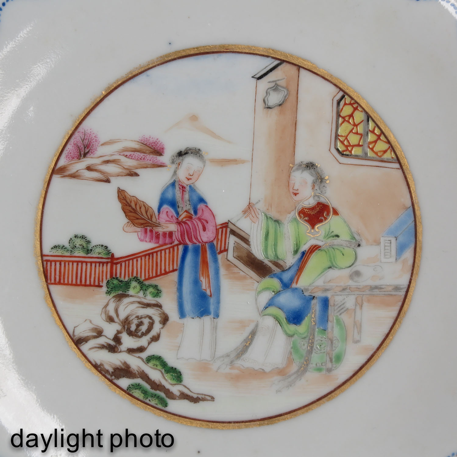 A Pair of Polychrome Decor Plates - Image 9 of 9