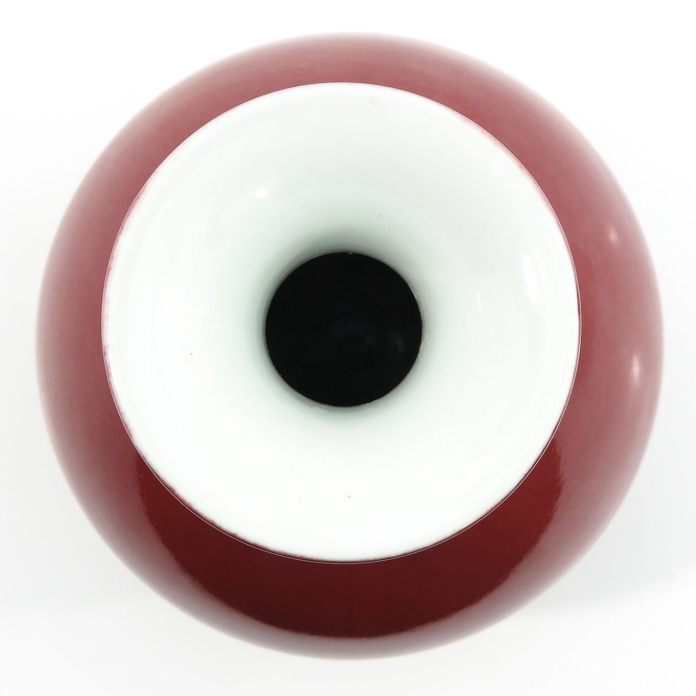 A Red Glaze Vase - Image 5 of 10