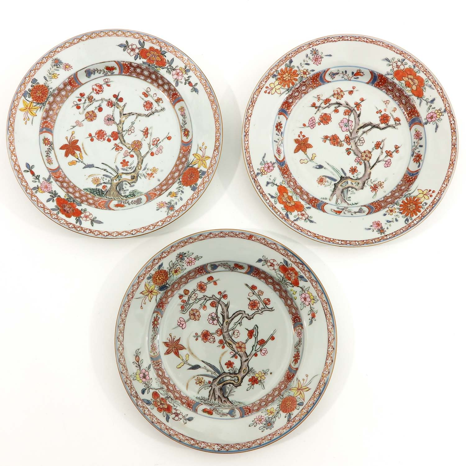 A Collection of 6 Polychrome Decor Plates - Image 5 of 9