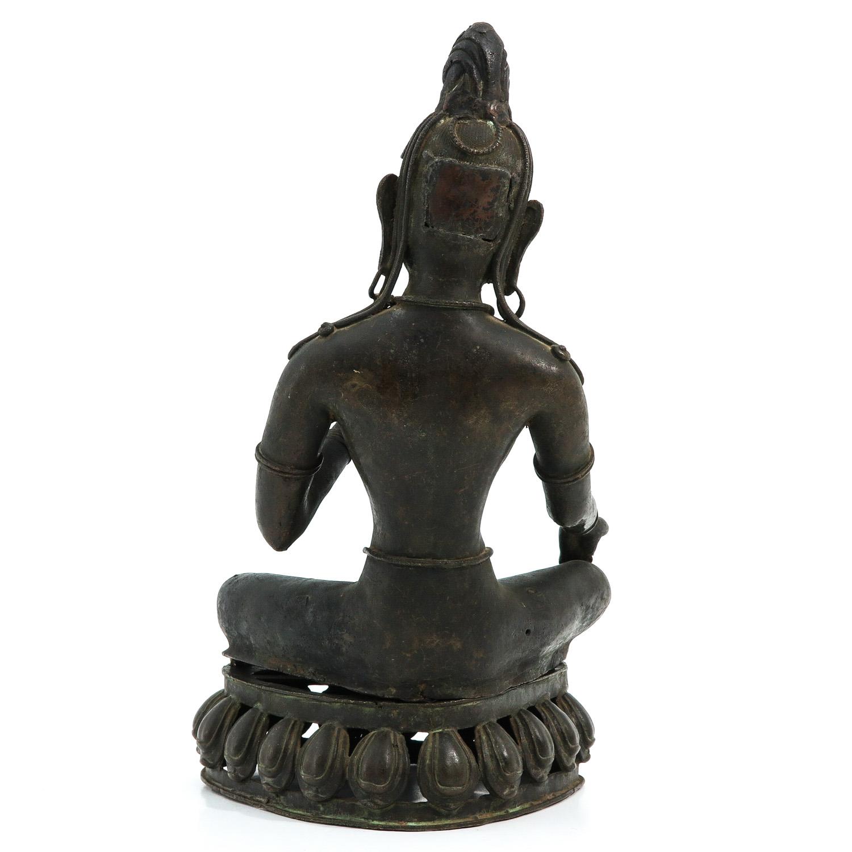 A Bronze Buddha Sculpture - Image 3 of 9