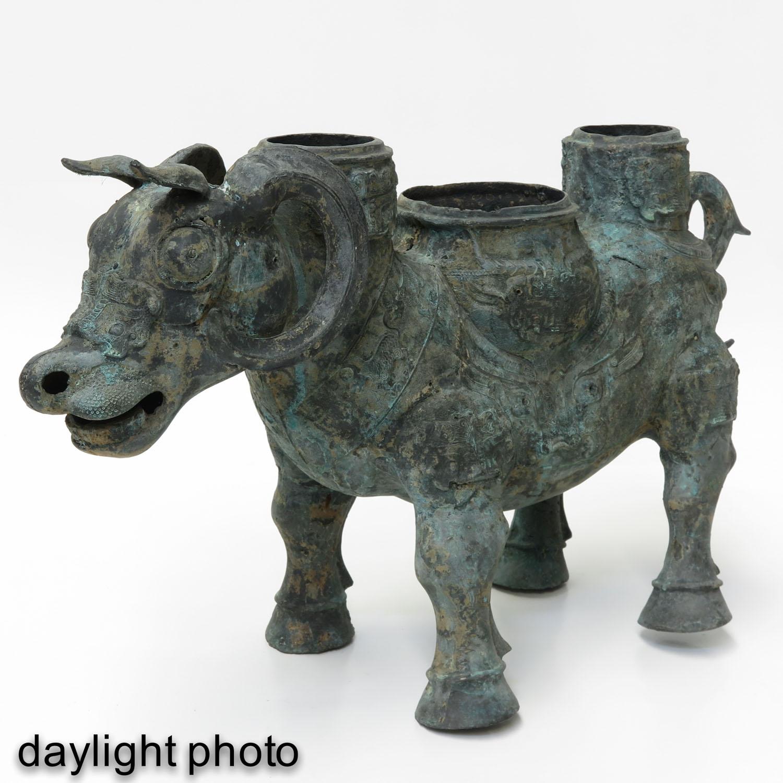 A Metal Figural Censer - Image 7 of 10