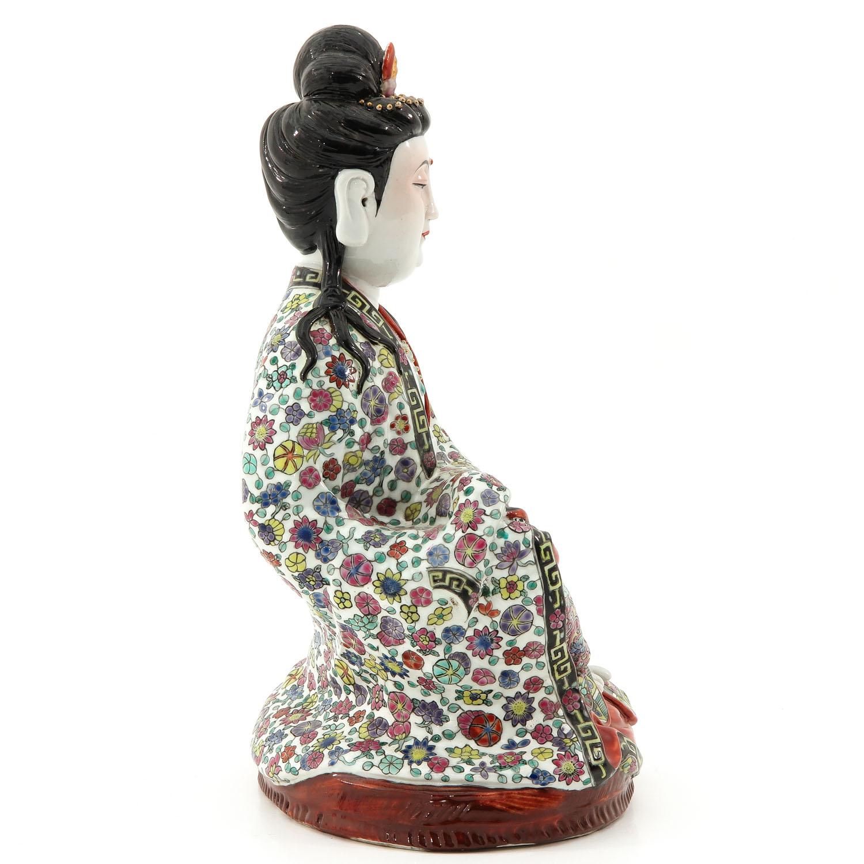 A Quanyin Sculpture - Image 4 of 10