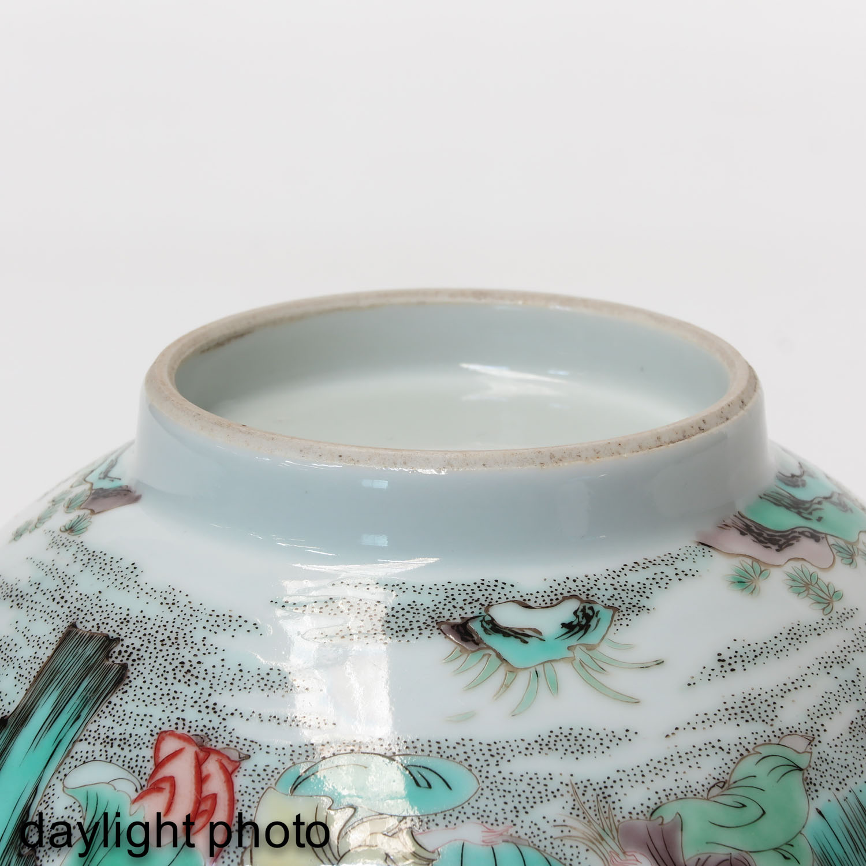 A Famille Verte Bowl - Image 8 of 9