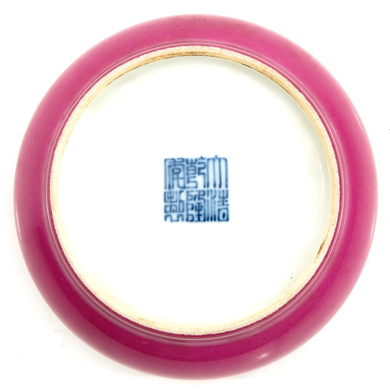 A Ruby Glaze Brush Washer - Image 6 of 10